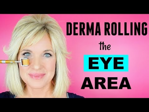Derma Rolling EYE Area! LIFT Eyelids REDUCE Wrinkles! thumbnail