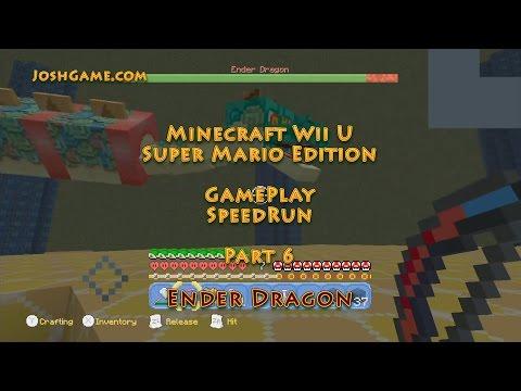 (6) Ender Dragon Super Mario Speedrun Part 6 (Minecraft Wii U)