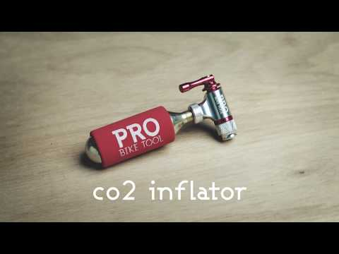 CO2 Inflator: PRO BIKE TOOL CO2 inflator with insulating sleeve, in focus
