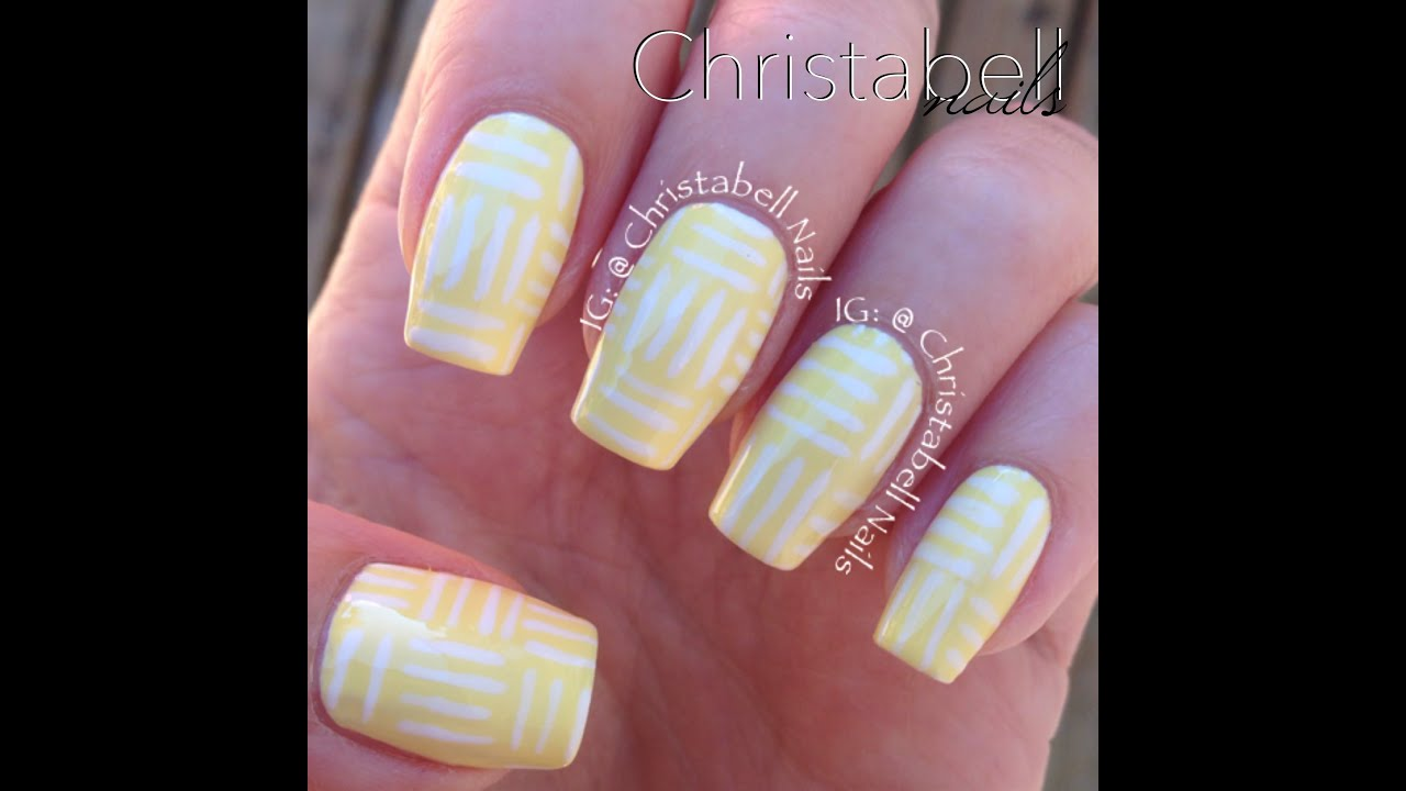 ChristabellNails Geometric Lines Nail Art Tutorial - A Quickie - YouTube