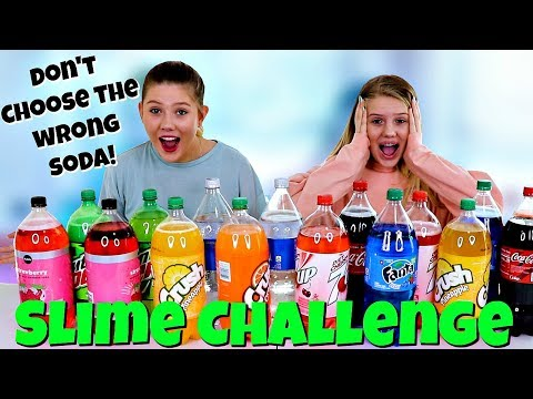 Don't Choose the Wrong Soda Slime Challenge | Taylor and Vanessa