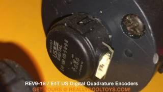US Digital E4T Quadrature  Encoder & Short Barrel REV9 Planetary Motors