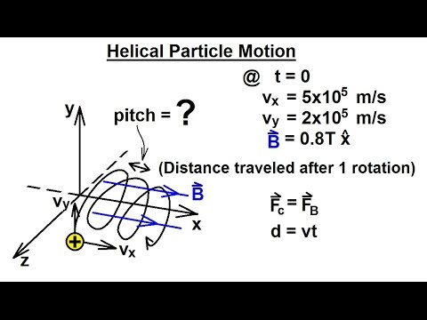 Physics - E&M: Magn Field Effects on Moving Charge & Currents (24 of 26)  Helical Particle Motion