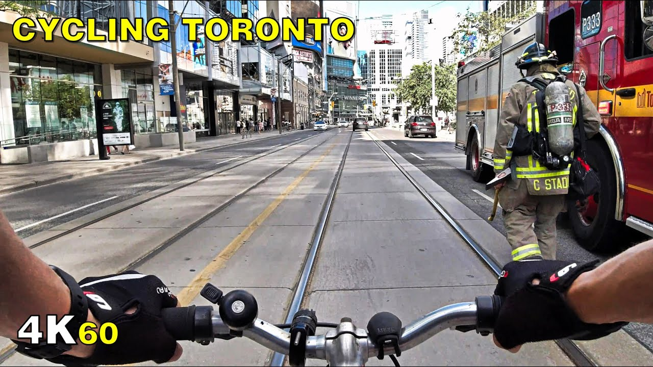 Cycling Toronto (Narrated) - The Junction & Dundas St W on June 28 [4K]