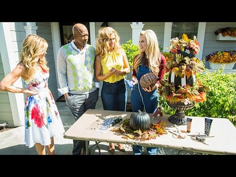 How to - Paige Hemmis' DIY Pumpkin Topiary - Hallmark Channel