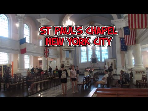 St Paul's Chapel Near Ground Zero In New York City - HD