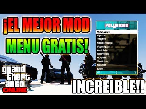 NUEVO MOD MENU POLYNESIA 3.2 EL MEJOR MOD MENU DE GTA 5 ONLINE! OPCIONES MUY UNICAS GTA 5 ONLINE