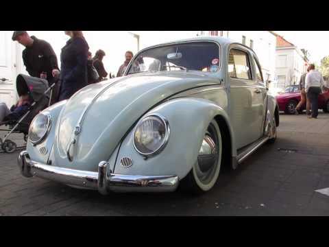 lowered vw beetle white @ freddy files ninove 2014