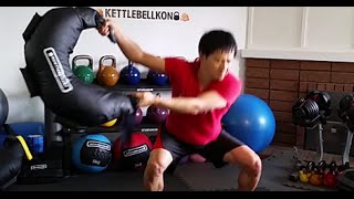 ブルガリアンバッグ サーキットトレーニング#1 メタボ解消、細マッチョ計画、ブルガリアンサンドバッグで有酸素運動運動と筋トレ thumbnail