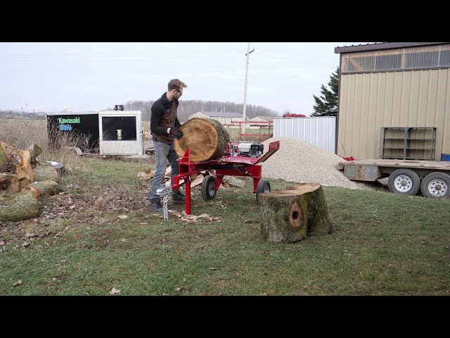 Small Log Splitter vs. Big Maple Rounds
