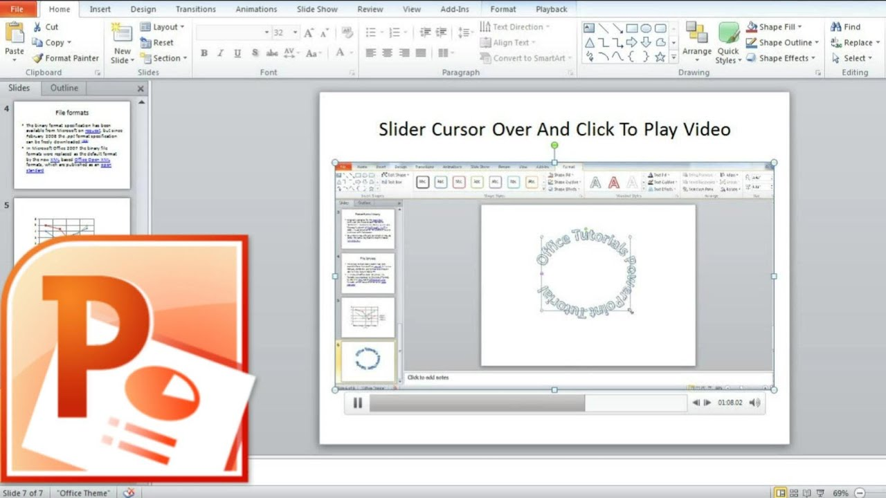 How To Insert Video Into Powerpoint Slide, Embedding Video Into Powerpoint  Presentation