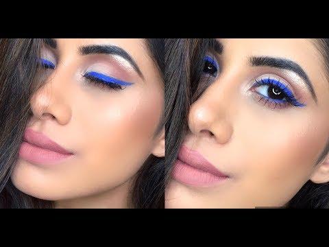 Electric Blue Eyes Makeup Tutorial