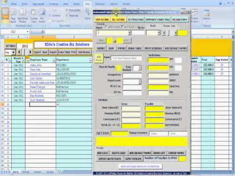 Part 3 of 3 Preparing Your Companyor Client Companys Pay slips – Salary Slip Generator Excel