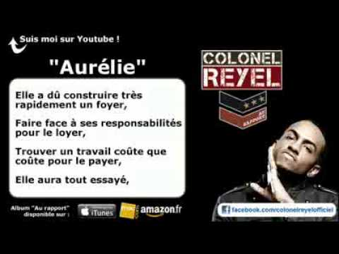 Colonel Reyel - Aurlie - Paroles