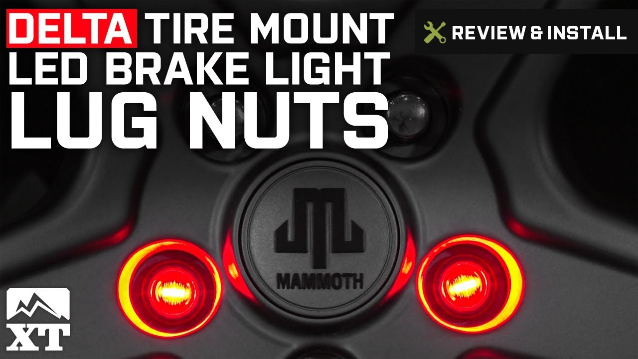 Jeep Wrangler Delta Tire Mount Led 3rd Brake Light Lug Nuts 1987 Wiring A Switch 2018 Yj Tj Jk Review Install