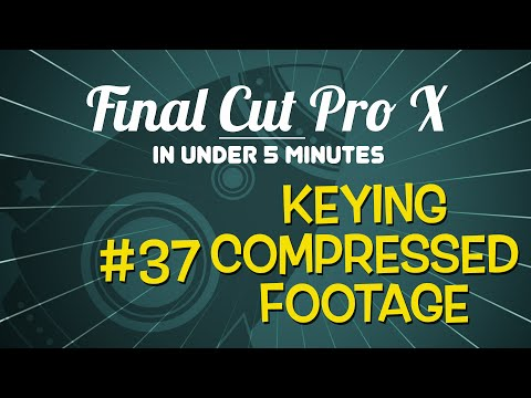 Final Cut Pro X in Under 5 Minutes: Chroma Keying in FCP X