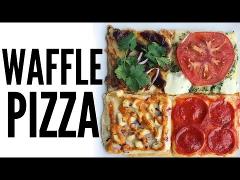 WAFFLE PIZZA - 4 Ways  (inspired by Seoul Pizza) | You Made What?!