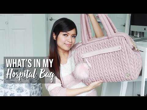 WHAT'S IN MY HOSPITAL BAG ♥ HAPP Paige Carryall Diaper Bag Review