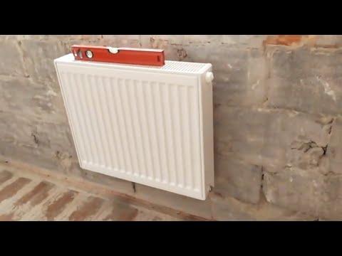 Монтаж радиаторов до штукатурки