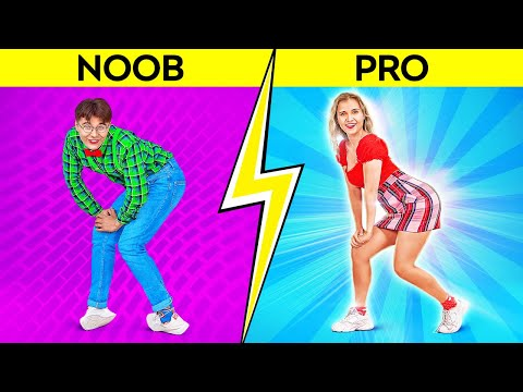 DANCE CHALLENGE || How To Be Popular! TikTok Practice! Trending Moves in Real Life by 123 GO! SCHOOL