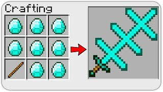 HOW TO CRAFT a STRANGE SWORD of GOD in Minecraft? SECRET RECIPE *OVERPOWERED*
