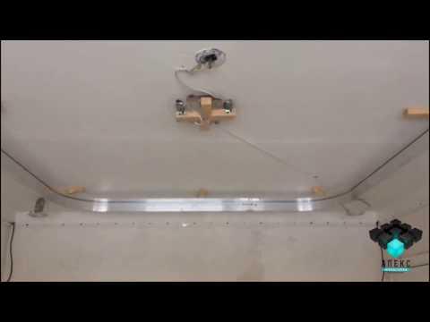 Установка алюминиевой конструкции по периметру для двухуровневого потолка