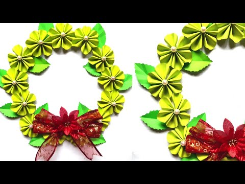 DIY Amazing Christmas Wreath | How to make paper christmas wreath easy | Christmas Decor Craft Ideas