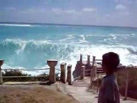 waves at taga beach of Tinian