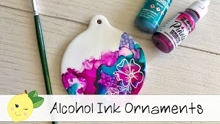 EASY Alcohol Ink CERAMIC Ornament Tutorial + Some Pen Doodling
