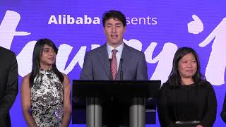 Justin Trudeau says Canada is in ?exploratory talks? with China on free trade. In Toronto on Monday, the prime minister added that any deal would need to have ?progressive values? at its core.(The Canadian Press).