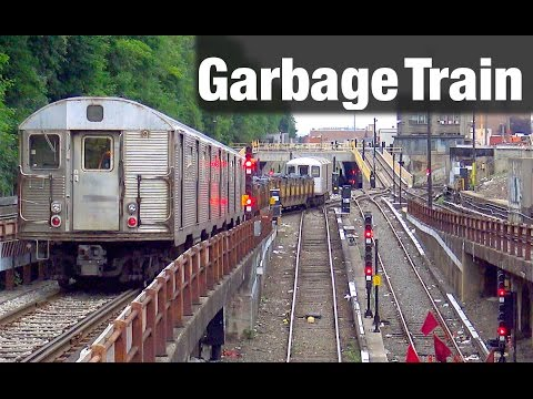 ⁴ᴷ R32-R127 Garbage Train Action at 9th Avenue