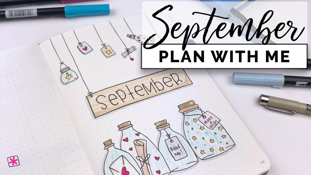 Plan with me september 2018 bullet journal setup for Plan me