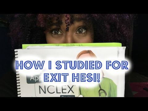 How I Studied For Exit Hesi YouTube