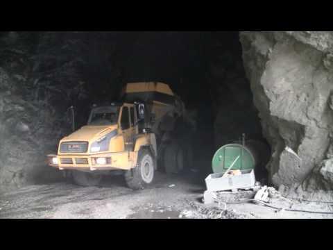 Vasker nye typer sand ut av Arna-fjellet