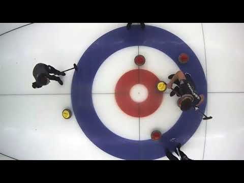 Russian curling. Quad takeout by Anastasia Bryzgalova