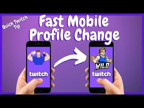 Super Fast TWITCH MOBILE Profile Picture Change
