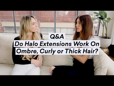 Do Halo Hair Extensions Work On Ombre, Curly or Thick Hair? | Q\u0026A