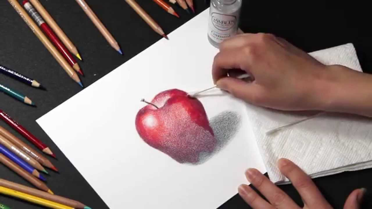 Colored Pencil How To Blend Colored Pencil With Solvents