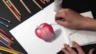 COLORED PENCIL: How to Blend Colored Pencil with Solvents
