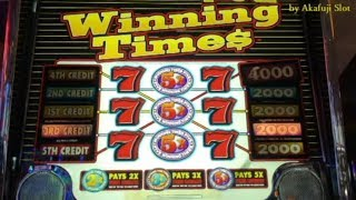 Slots Weekly Highlights #44 For you who are busy★ Winning Times $1 Slot 赤富士スロット, カジノ, 勝負師