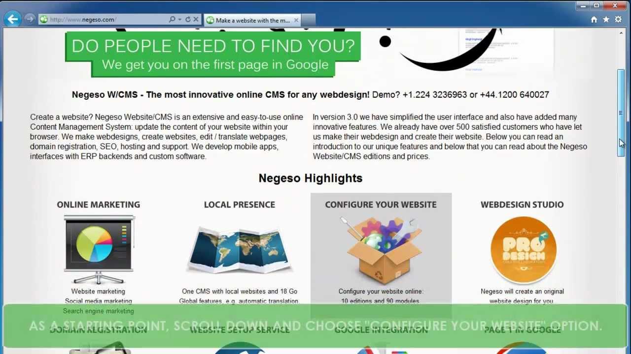 De beste website maken, het mooiste webdesign - Negeso