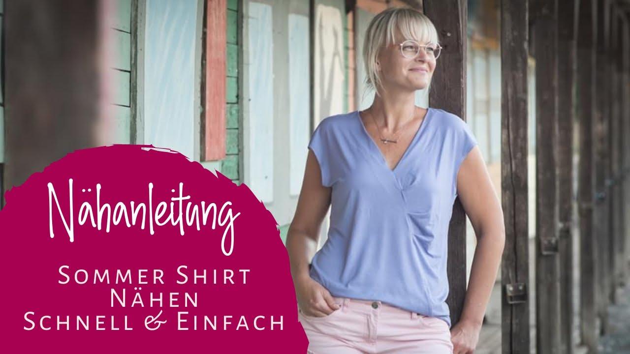einfaches Shirt für Anfänger nähen (Nähanleitung Schnittmuster Alea)