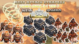 Coc Th9 Attack Strategy. Town hall 9 New Combo 3 stars Clash of clans 2016