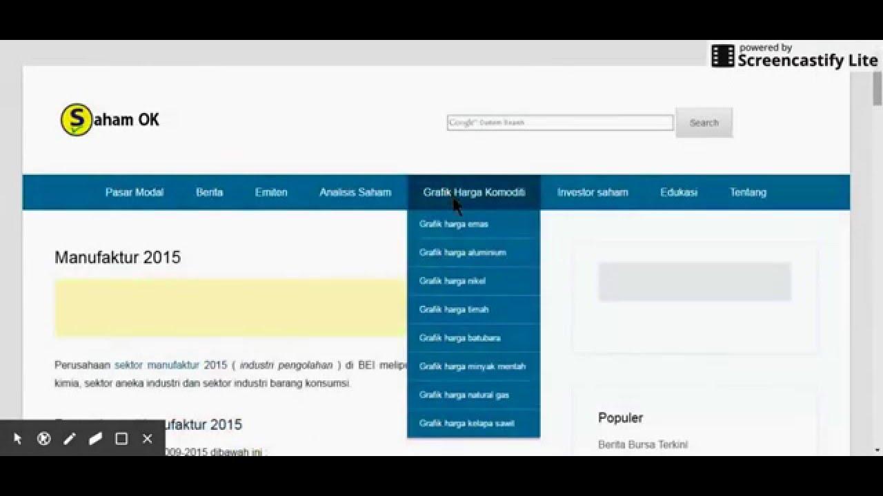 Cara Mencari Perusahaan Manufaktur Yang Terdaftar Di Bursa Efek Indonesia Youtube