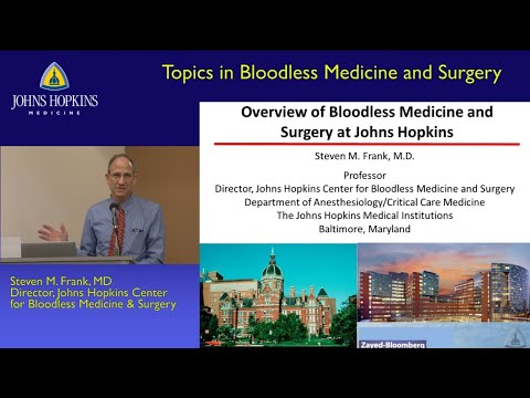 2016 Johns Hopkins Bloodless Medicine Seminar