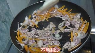 深夜的食堂酱油炒面加荷包蛋和马来西亚霹雳上白芝麻。哈哈哈所需材料拉...
