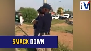 WATCH: EMPD-officer slaps phone from motorist