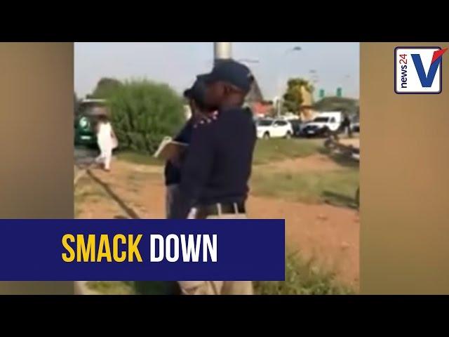 WATCH: EMPD-officer slaps phone from motorist's hand