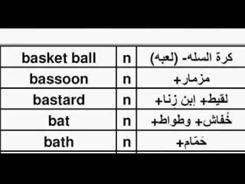 TEA01AL English Arabic Dictionary, قاموس انجليزي عربي