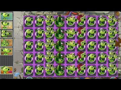 Plants vs Zombies 2 Hack - Guisantes vs Horda de Zombistein